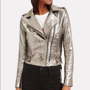 NWT : IRO Dylan Metallic Moto Jacket
